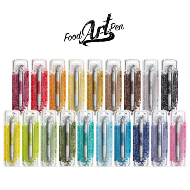 Rainbow Dust - Food Art Pen - Kit Completo 19 cores