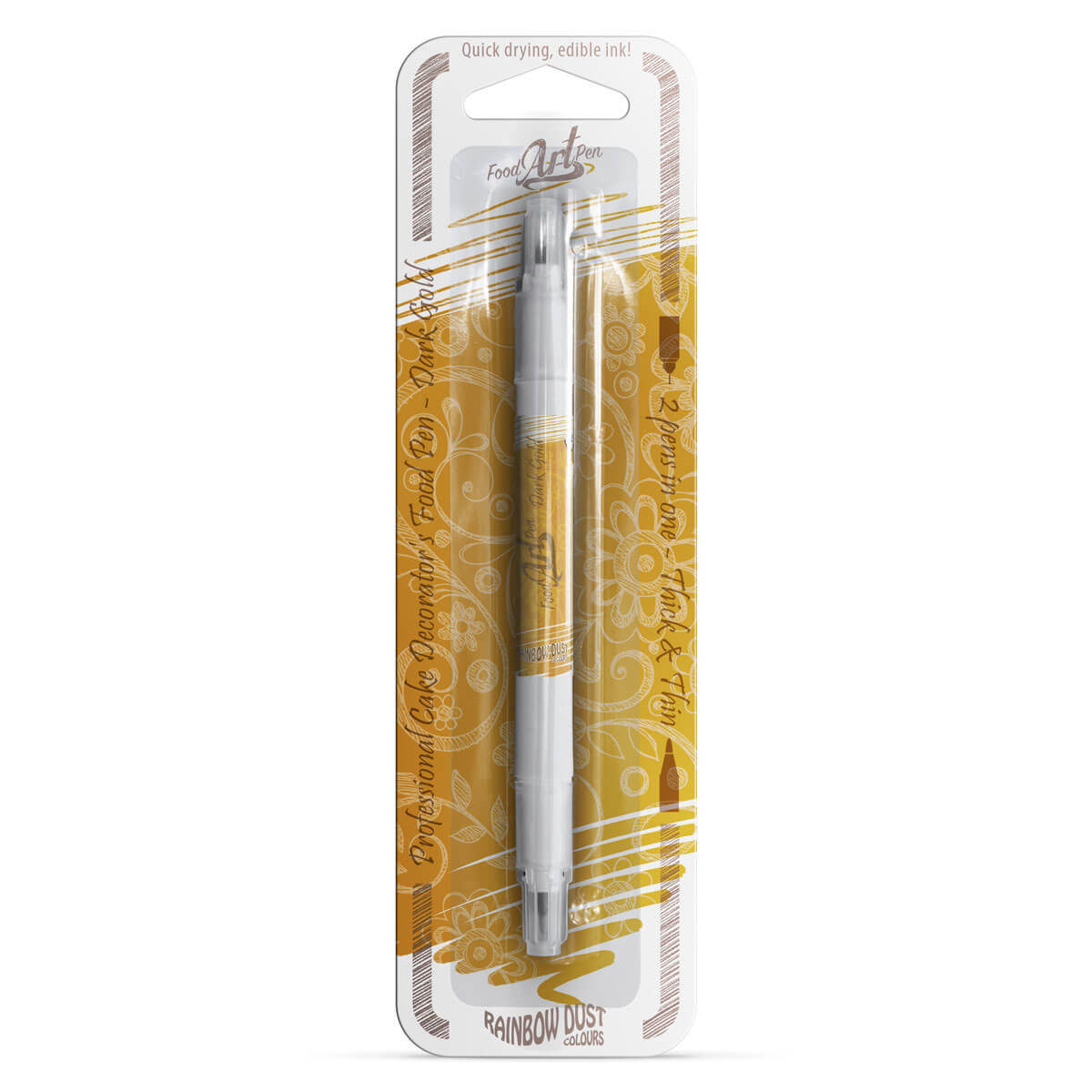 Rainbow Dust - Food Art Pen - Dark Gold/ Dourado Escuro