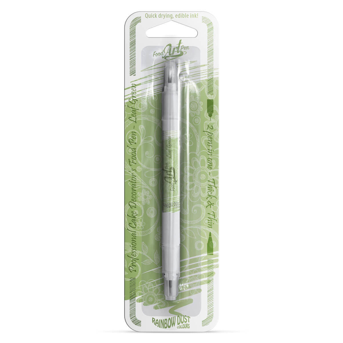 Rainbow Dust - Food Art Pen - Leaf Green / Verde Folha